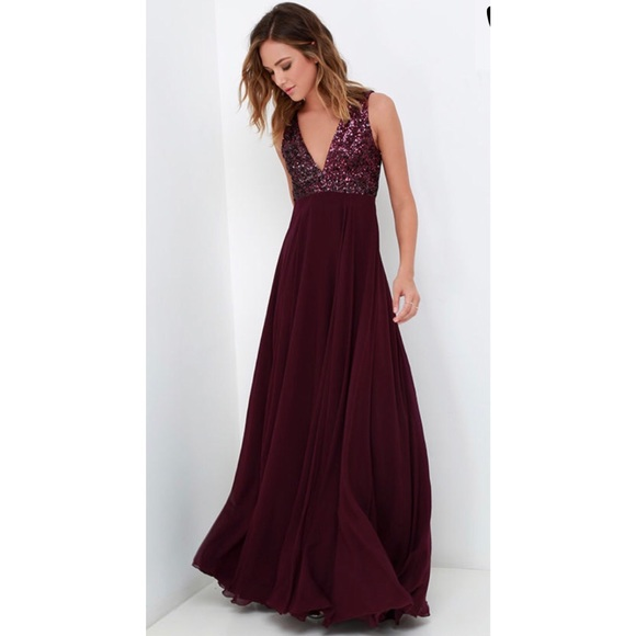 9fe86501f Lulu's Dresses | Lulus Dress The Population Julia Sequin Maxi Dress ...